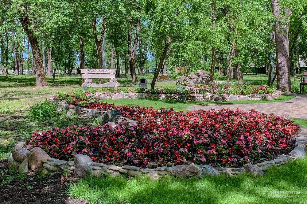 Газон в парке 30-летия Победы.