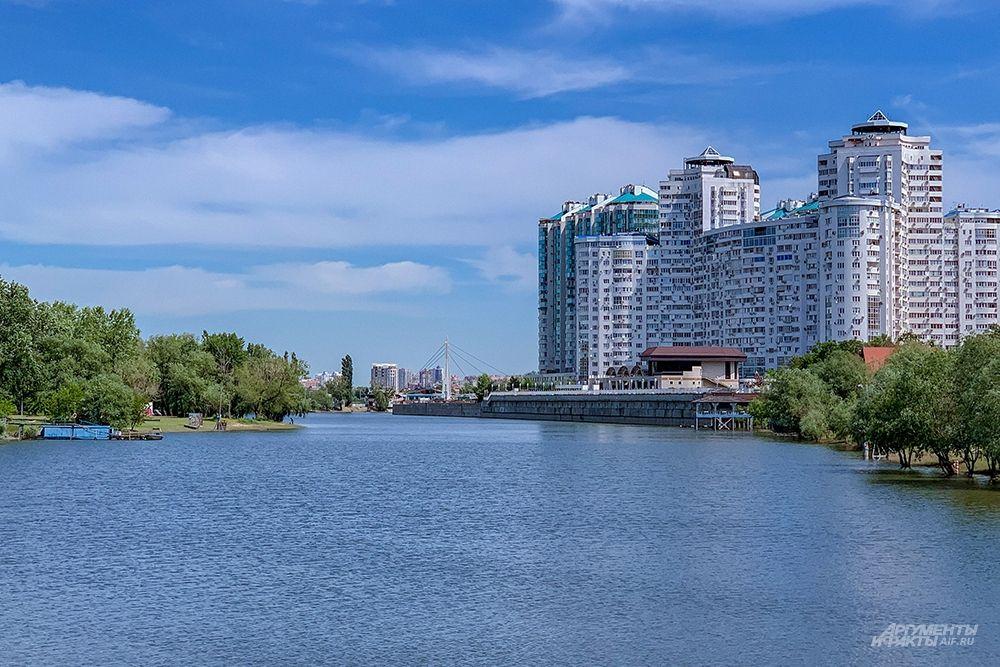 Вид на реку Кубань со стороны Затона.