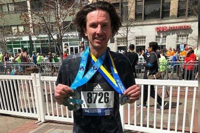 Алексей Смертин - участник Boston Marathon Finish Line.