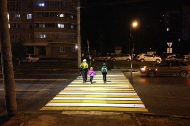 «Умные» пешеходные переходы обустроят в местах концентрации ДТП с участием пешеходов.
