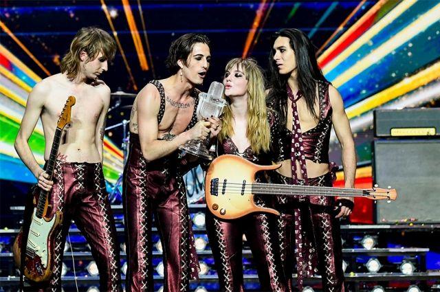 Итальянская рок-группа Maneskin.