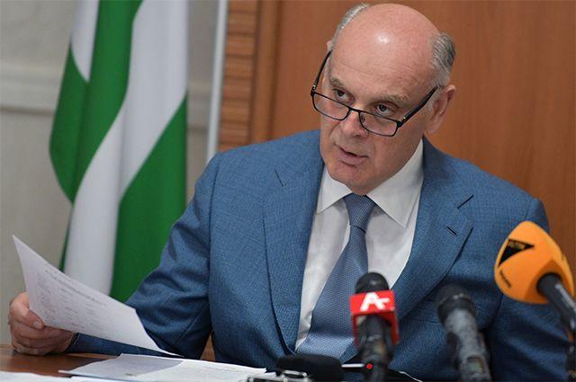 Президент Абхазии Аслан Бжания.