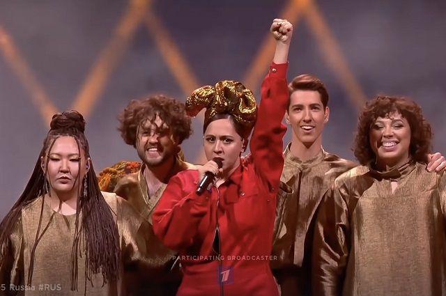 Кадр из выступления в финале Eurovision-2021.