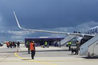 Cамолет Ryanair, который был вынужден приземлиться в Минске.