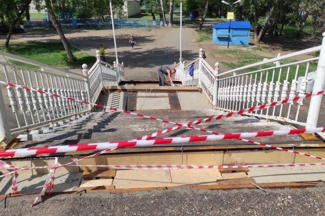 На ремонт пешеходного моста через Урал и «азиатского» спуска в Оренбурге потратят 3,6 млн