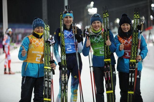 «Золотой» состав женской сборной Украины по биатлону в 2014-м.