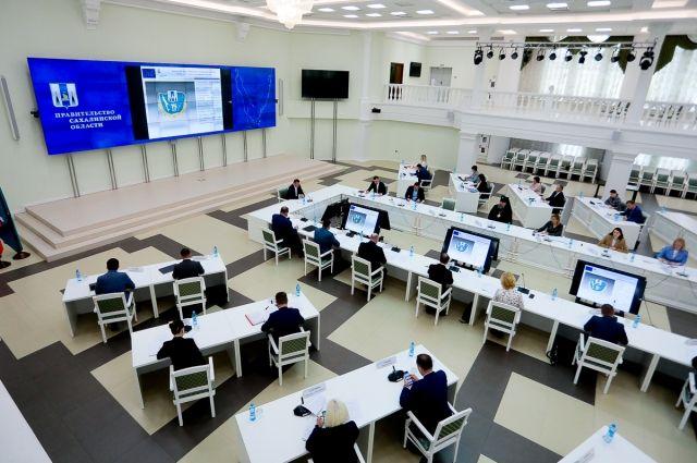 Заседание оргкомитета в Доме Правительства Сахалинской области