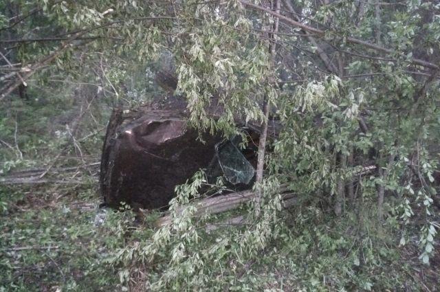 Автомобиль «Лада» врезался в дерево.