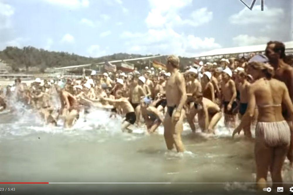 Праздник День Нептуна, «Орленок», 1965 год.