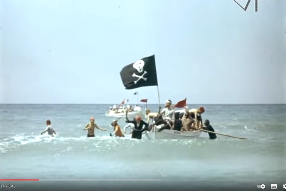День Нептуна в «Орленке», 1965 год.