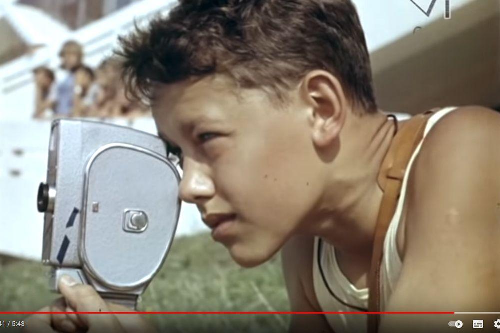 Съемка баскетбольного матча, «Орленок», 1965 год.