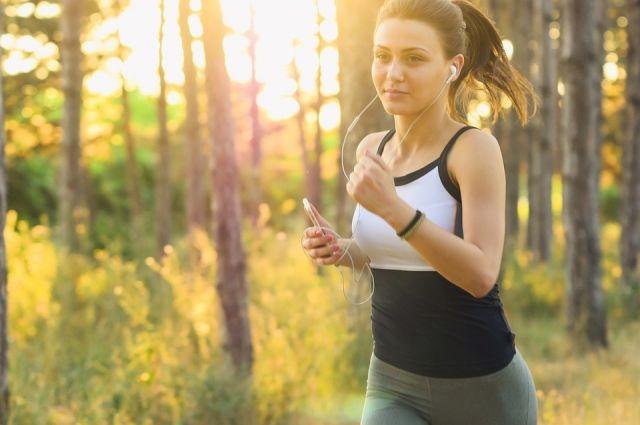 На пробежку лучше утром.