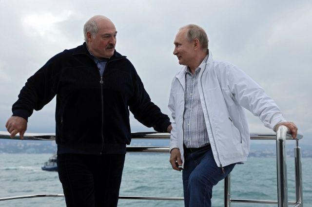 Александр Лукашенко и Владимир Путин в Сочи.