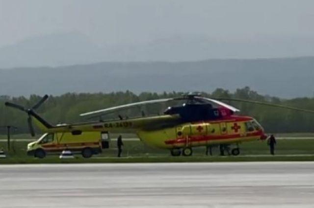 Транспортировка будет осуществляться вертолетом санавиации.