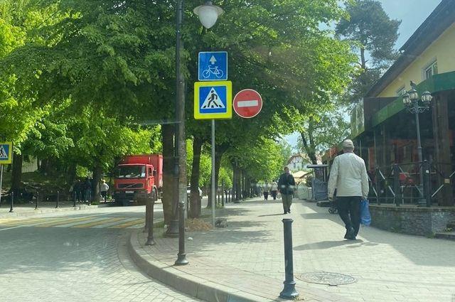 В Светлогорске на улице Ленина ввели одностороннее движение