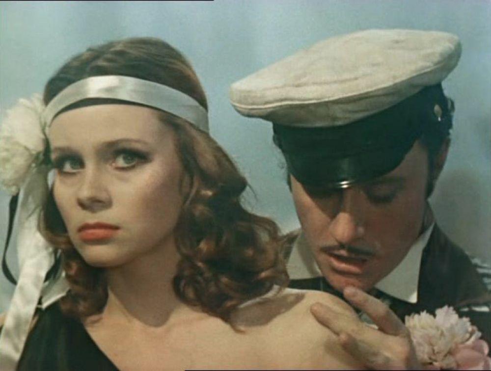 Актриса Любовь Полищук в роли танцовщицы (1976 год)