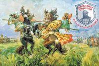 После нашествия Батыя силы на то, чтобы попробовать сразиться с Ордой, у Руси появились только через полтора столетия (М. И. Авилов, «Поединок Пересвета с Челубеем на Куликовом поле», 1943 г.)