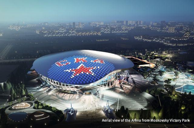 Высота «СКА Арена», согласно проекту, достигнет 53,7 метра.