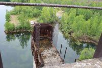 Строительство Крапивинского гидроузла началось в 1975 году.
