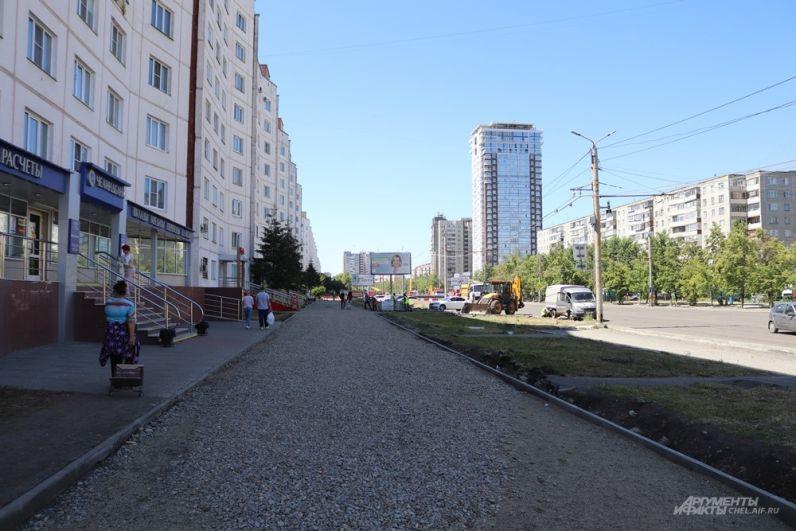 Обновление также ждёт тротуары.