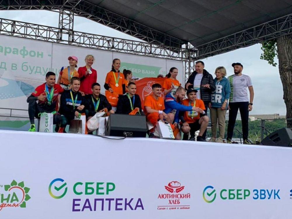 Награждение победителей «Зелёного марафона».