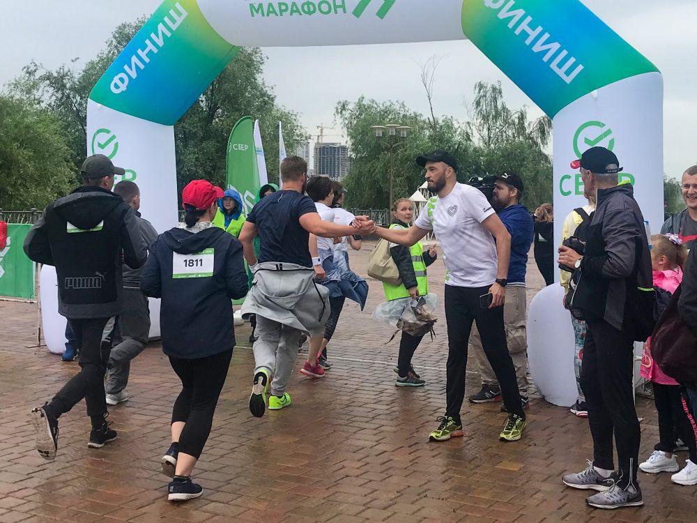 Участники забега «Зелёный марафон» на финише.