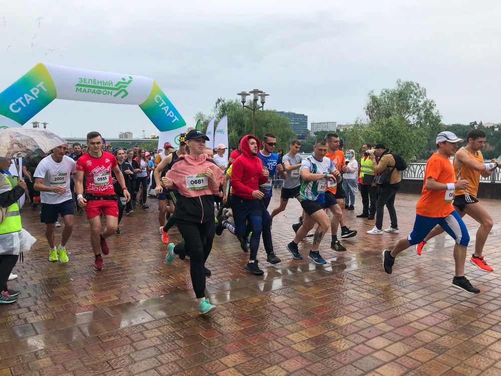 Участники забега «Зелёный марафон».