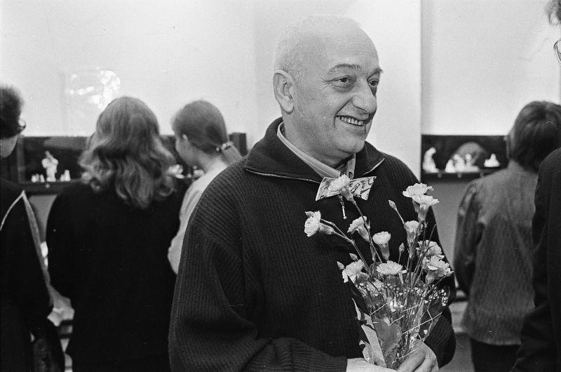 Открытие выставки Резо Габриадзе в Фонтанном доме в Санкт-Петербурге (1994 год)