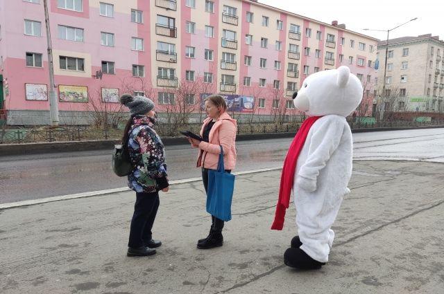 Опрос «5 вопросов от «Белого мишки» прошёл в Норильске.