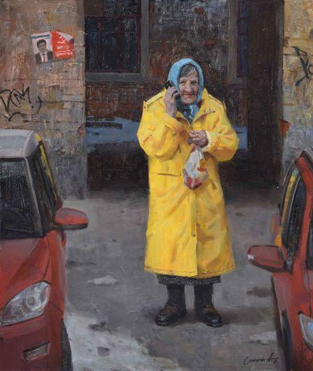 Ростовская бабушка привлекает внимание на любой выставке.