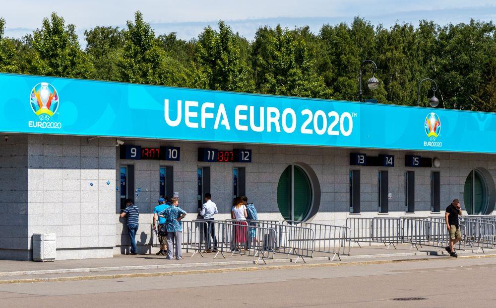 Кассы по продаже билетов на матчи чемпионата Европы по футболу - 2020 у стадиона «Газпром Арена»