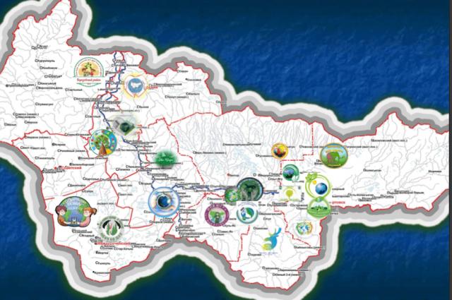 Передача эстафеты марафона была обозначена направлением его эмблемы от муниципалитета к муниципалитету