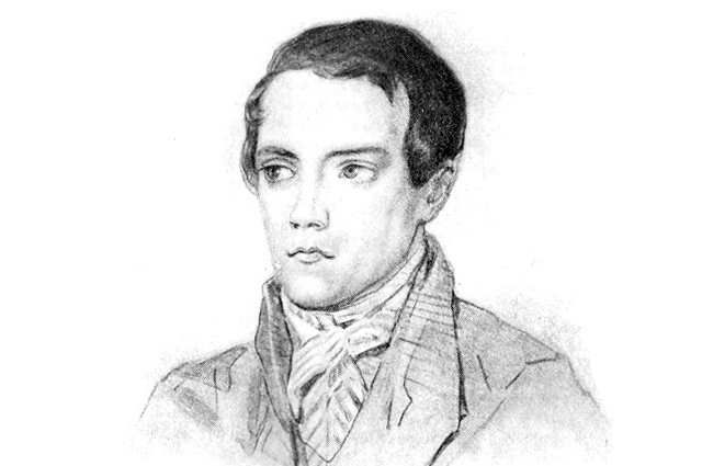 Портет В. Г. Белинского. Акварель А. П. Брюллова с оригинала К. А. Горбунова. 1838.