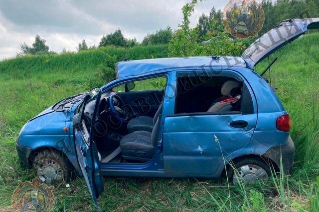 Молодой человек без прав съехал в кювет в Щекинском районе