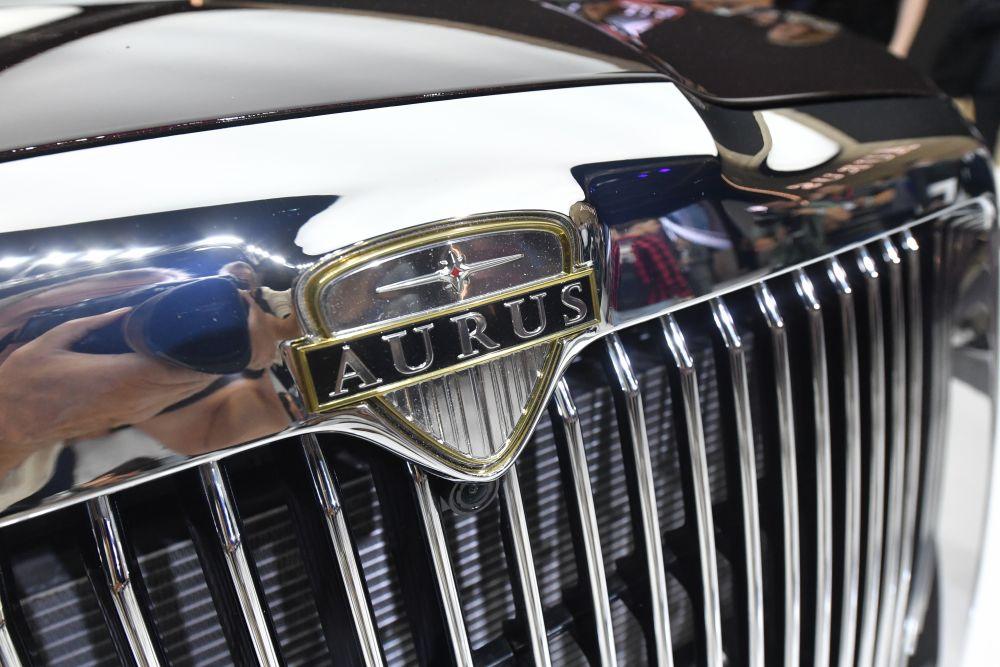 Автомобиль класса люкс AURUS Senat на мировой презентации в рамках Московского международного автомобильного салона-2018