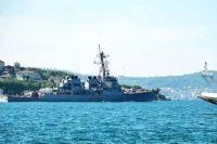 Ракетный эсминец США вошел в акваторию Черного моря.