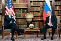 Ппрезидент США Джо Байден ипрезидент РФВладимир Путин вовремя встречи вЖеневе навилле ЛаГранж.