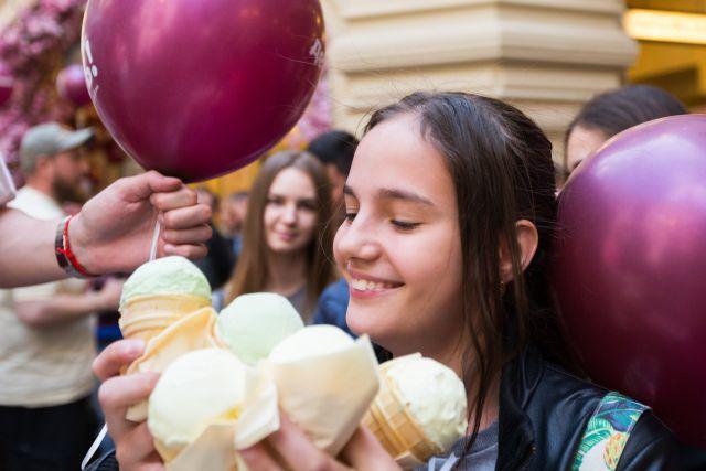 День мороженого в ГУМ.