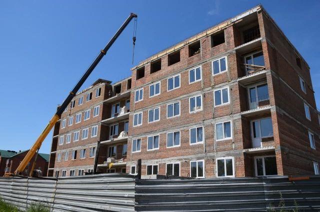В Гурьевске возводят два многоквартирных дома.