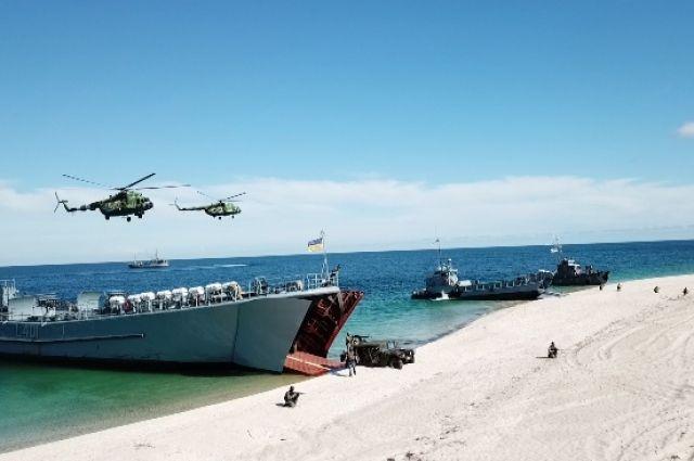 ВМС Украины провели тактические учения корабельной десантной группы.