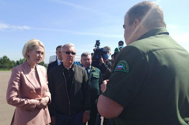 Вице-премьер заявила, что Красноярск готов к созданию межрегионального лесопожарного центра