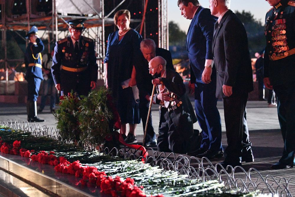 Участники мероприятий, посвященных началу Великой Отечественной Войне