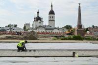 В рамках нацпроекта в Канске благоустраивают центральную площадь.