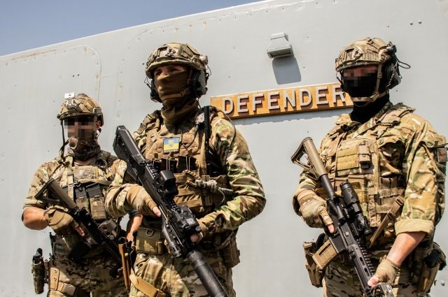 Украинский спецназ провел совместные учения с бойцами НАТО