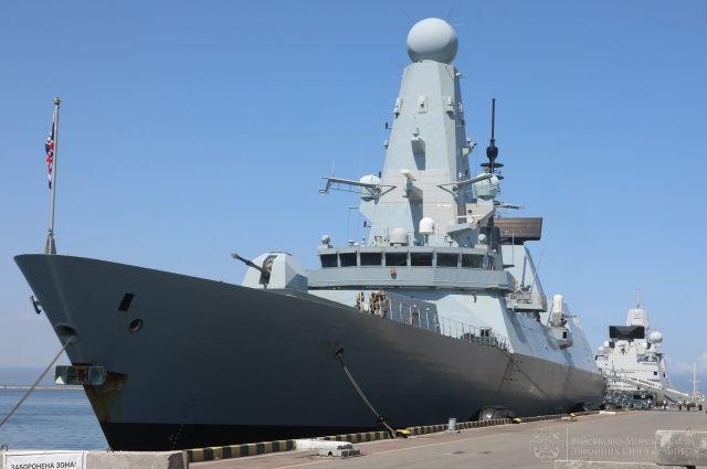 Минобороны Британии прокомментировало «обстрел» их корабля в Черном море
