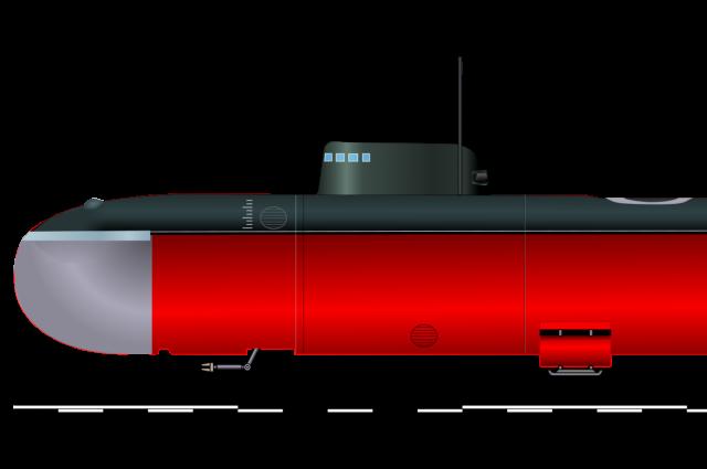 Российская глубоководная атомная подводная лодка АС-12 «Лошарик».