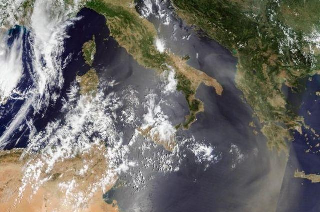 Европу накрыло облако пыли из Сахары