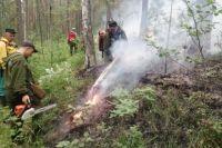 В Свердловской области горят леса и кладбища.
