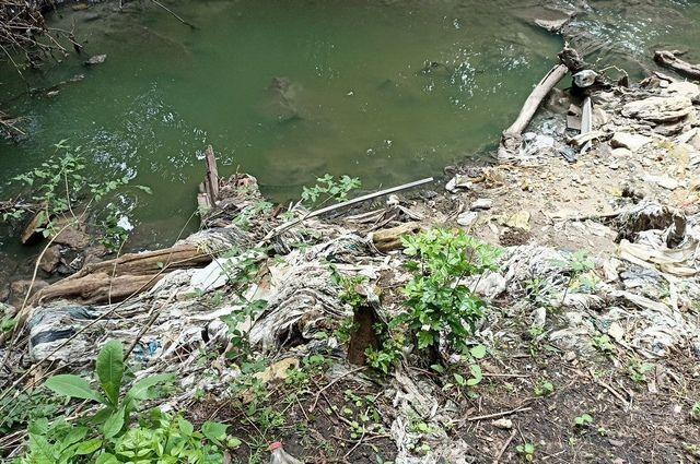 Река Грушёвая в Ставрополе регулярно меняет свой цвет и издаёт неприятный запах.