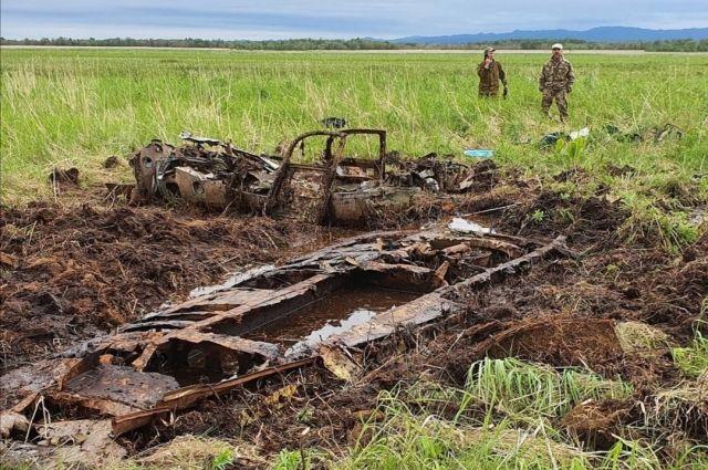 Фрагменты самолета P-63 Kingcobra обнаружили в районе села Успенское.